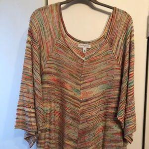 Kim Rogers multi colored sweater, sz 3x